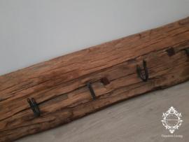Kapstok Railway - Stoer oud houten wagondelen no. 19