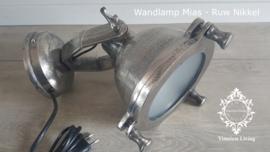Wandlamp Industrieel Mias - Zwart / Nikkel