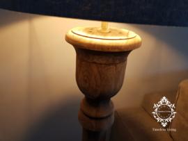 Vloerlamp hout verouderd sober