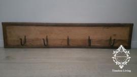 Kapstok Railway - Stoer oud houten wagondelen no. 3