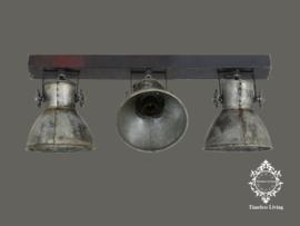 Plafondlamp Industrieel Angelique 3 spots - Vintage Zilver