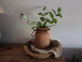 Oud houten Nepalese kruik no. 16