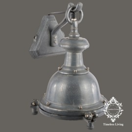 Wandlamp industrieel Bell -  Lood / Nikkel