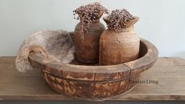 Stoere origineel oud houten bak XL - ∅  65 cm. no. 1