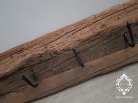 Kapstok Railway - Stoer oud houten wagondelen 100 cm.