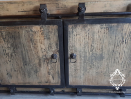 TV Meubel Vito - Massief hout industrieel ijzerwerk - 170 cm. no. 1