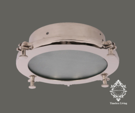 Plafondlamp Giovanni - Industrieel Chroom glans - Maat M Ø 32 cm.