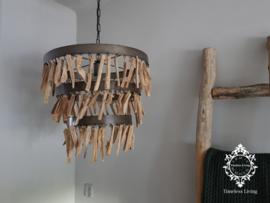 Hanglamp sprokkelhout driftwood Ø 52 cm.
