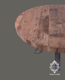 Eettafel Angelo - Rond Sober industrieel robuust oud hout