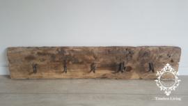 Kapstok Railway - Stoer oud houten wagondelen no. 11