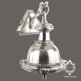 Wandlamp industrieel Bell -  Ruw Nikkel