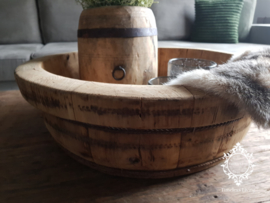 Olijfbak stoer origineel oud hout ∅ 48 - no. 10