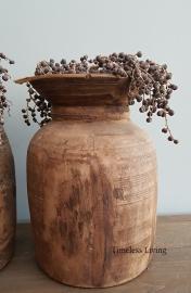 Nepalese houten kruik maat XL - no. 2
