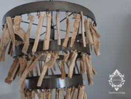 Hanglamp industrieel sprokkelhout driftwood Ø 52 cm.