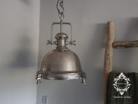 Industriële hanglamp Joey - Ruw Nikkel