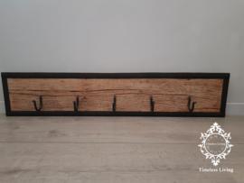 Kapstok Railway - Industrieel Stoer oud houten wagondelen no. 12
