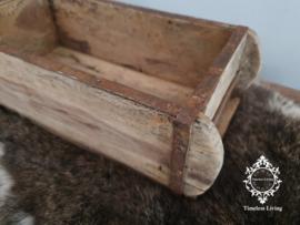 Steenmal / baksteenmal - Oud hout met ijzerwerk - 1 vaks