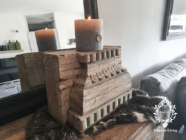 Authentieke oud houten poer XL no. 5