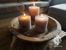 Oud houten schaal robuust ∅ 42