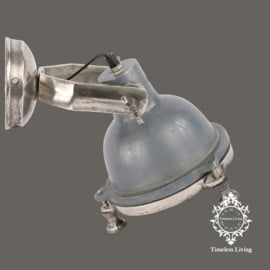 Wandlamp Industrieel Mias - Lood / Nikkel - Ø 20 cm.