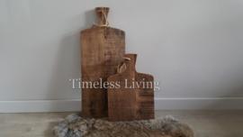 Massief houten broodplank / tapasplank verweerd bruin