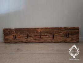 Kapstok Railway - Stoer oud houten wagondelen no. 20