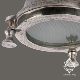 Wandlamp industrieel Mias - Ruw Nikkel - Ø 20 cm.