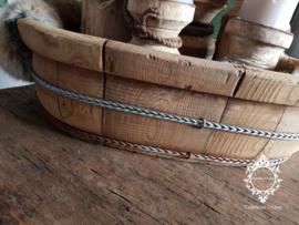 Olijfbak ovaal stoer origineel oud hout - no. 12