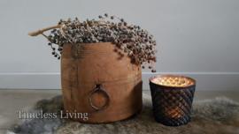 Stoer oud houten Nepalese pot no. 6