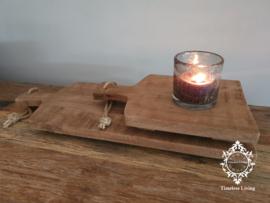 Broodplank / tapasplank verweerd bruin massief hout