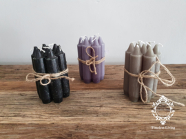 Kaarsen kort model - Zwart / Grijs / Olijfgroen / Taupe