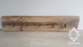 Kapstok Railway - Stoer oud houten wagondelen no. 6