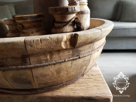 Olijfbak XXL stoer origineel oud hout - no. 8
