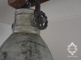 Plafondlamp Industrieel Angelique 2 spots - Vintage Metaal Hout
