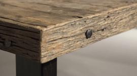 Eettafel Angelo - Sober industrieel robuust oud hout