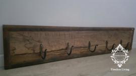 Kapstok Railway - Stoer oud houten wagondelen no. 4