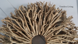Stoere landelijke driftwood takken krans