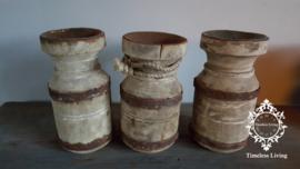 Waterkruik oud houten kandelaar - Maat S - no. 9