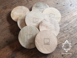 Leeff Onderzetters hout (2 st.)