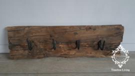 Kapstok Railway - Stoer oud houten wagondelen no. 14