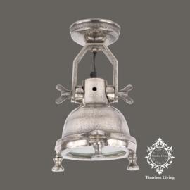 Wandlamp industrieel Mias - Ruw Nikkel