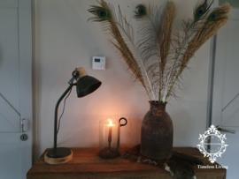 Bureaulamp / Tafellamp Siënna Industrieel - Leger groen Hout