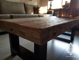 Salontafel Angelo - Sober industrieel oud hout 120 cm. no. 2