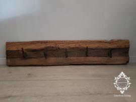 Kapstok Railway - Stoer oud houten wagondelen no. 21