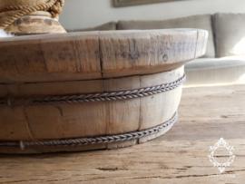 Olijfbak ovaal stoer origineel oud hout - no. 4