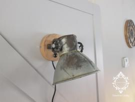 Wandlamp Industrieel Angelique - Vintage Metaal naturel