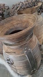 Nepalese houten kruik maat XL - no. 5