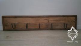 Kapstok Railway - Stoer oud houten wagondelen no. 2