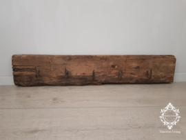 Kapstok Railway - Stoer oud houten wagondelen no. 18