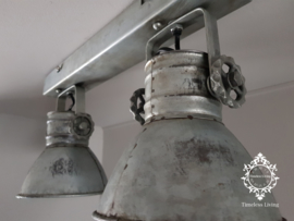 Plafondlamp Industrieel Angelique 2 spots - Vintage Metaal